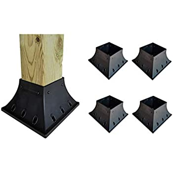 Deck Railing Post Support 4x4 Post (3.5x3.5 Actual Size) (4 Pack)