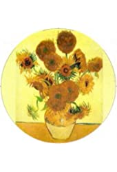 Van Gogh Sunflowers Pin
