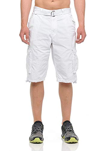 - Style One Men's Rugged Classic-Fit Cargo Twill Shorts 113B White Size 36