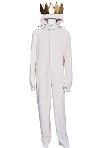 Wild Things Max Costumes (FancyStyle Where the Wild Cosplay Wolf Max Costume Costume Beige Male S)