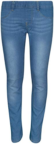 Real Love Girls' Skinny Soft Stretchy Jegging Pants, Light Denim, Size 14' -