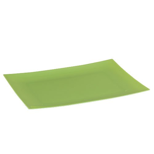 (Lillian 9 X 6-7/8 Inch Rectangular Plastic Plates, 10 Count,)