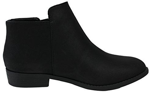 Black City Toe Heel Classified Ankle Low Tassel Women's Closed Boot Zipper vqgfOv