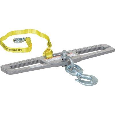 Vestil Forklift Double-Fork Hook Plate - 6,000-lb. Capacity, Model# LM-HP6-S -