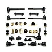 Chevrolet Chevelle Black Polyurethane Front End Suspension Master Rebuild Kit ()