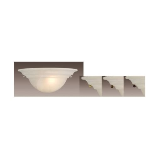 Vaxcel USA WS65373 1 Light Wall Sconce Lighting Fixture in Brass, Nickel, Bronze, Adornments, Glass