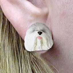 Old English Sheepdog Earrings - Conversation Concepts Old English Sheepdog Earrings Post