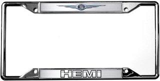 Mopar Eurosport Daytona- Compatible with -, Chrysler Logo/HEMI License Plate Frame (Chrysler License Plate Frame)