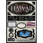 Scrapbook Customs United States Hawaii State Cardstock Stickers Travel - Hawaii Scrapbooking Stickers