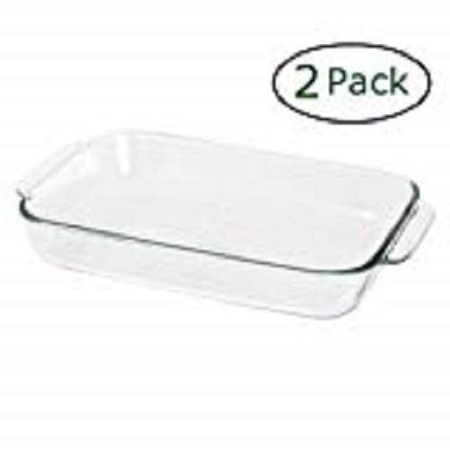 (Pyrex Basics 2 Quart Glass Oblong Baking Dish, Clear 7 x 11 inch (Pack of 2))