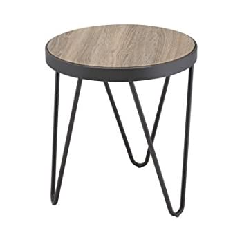 ACME Furniture Acme 81737 Bage End Table, Weathered Gray Oak, One Size
