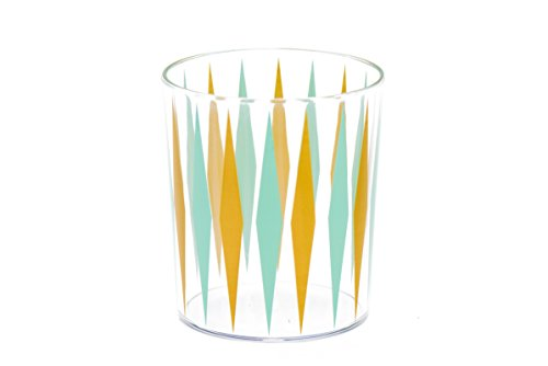 Sugar & Cloth SC31GLRTD08 8 Piece Plastic Cup Set, Retro Diamond (Gathering Round Table Glass)