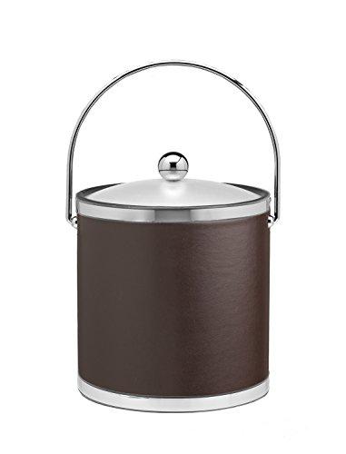 Kraftware Vinyls and Mylars Ice Bucket, 3 quart, Brown (3 Bucket Qt Mylar Ice)