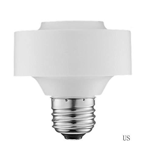 Flickering Voice Smart WiFi Light Socket, E26 / E27 Light Bulb Adapter Application Remote Voice Control Light Bulb for Alexa/Google Homepage from Flickering