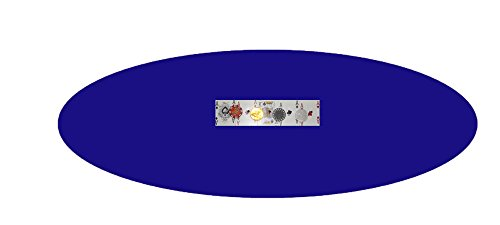 (Felt Poker Table Cover - Custom Made to Order - Patio Tablecloth Bonnet with Elastic Band - for Round 36 Inch Table - Patio Table (Blue, 72 inch Round))