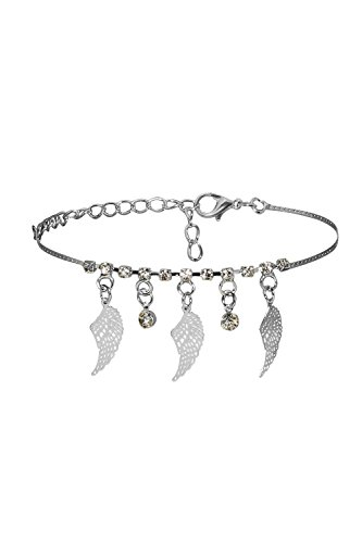 Ancient Egyptian Dancers' Costumes (Anklet Feet Bracelet Angel Wing Talisman Charm Rhinestone Pendant Women Jewelry (Silver))