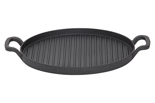 GURO GU6157 Cast Iron Pre-Seasoned / Enameled Round Griddle, 12.2