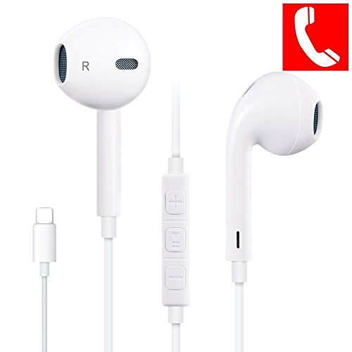 Earbuds,XinHen With Microphone Earphones Stereo Headphones and Noise Isolating headset Made for iPhone 7/7 Plus iPhone8/8Plus iPhone X (Bluetooth Connectivity)