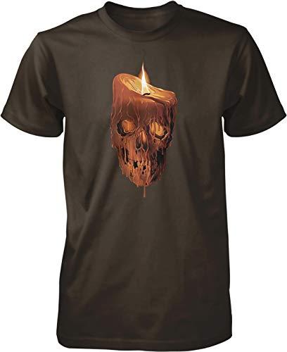 (NOFO Clothing Co Melting Skull Candle Men's T-Shirt, XXXL)