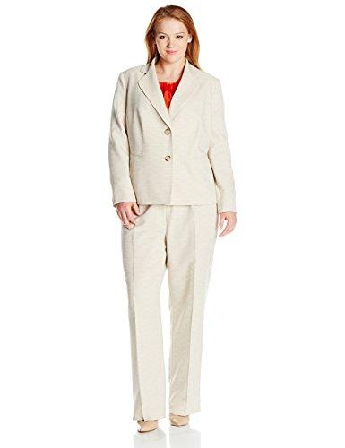 Le Suit Women's Plus Size Crosshatch 2 Button Pant Suit W/Cami free shipping