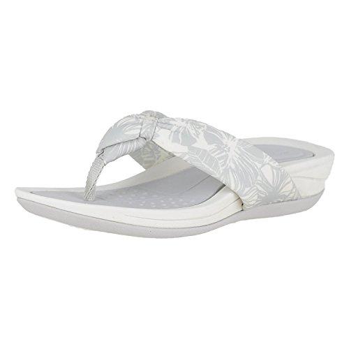 (Easy Spirit Womens Beachey 2 Open Toe Casual Slide Sandals, Silver, Size)