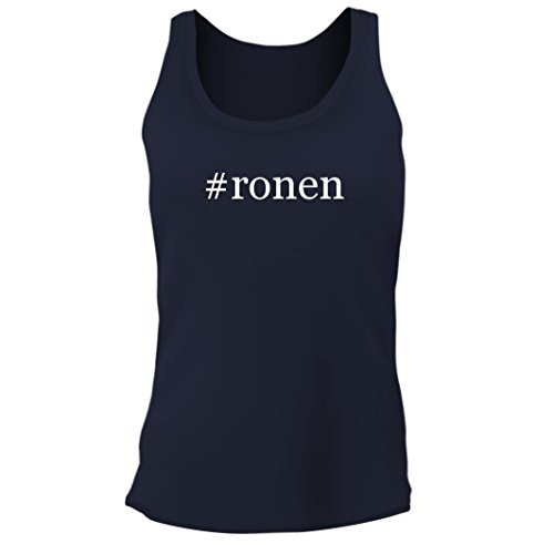 Tracy Gifts  Ronen   Womens Junior Cut Hashtag Adult Tank Top  Navy  Small