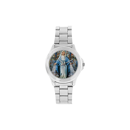 Novelty Gift Sacred Virgin Mary Unisex Stainless Steel Watch by Virgin Mary Watch
