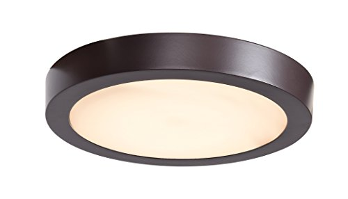 Access Lighting 20072LEDD-BRZ/ACR Ulko Exterior Flush Mount, Bronze Finish