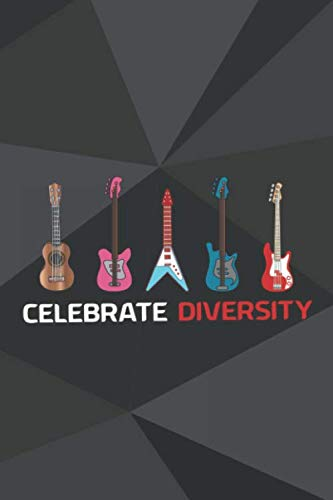 Celebrate Diversity: Blank Lined Notebook ( Guitar ) Triangles