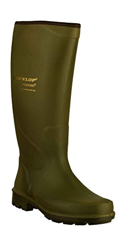 Dunlop - Green - Pull On Wellingtons - Size 39 40 41 42 43 44 Green