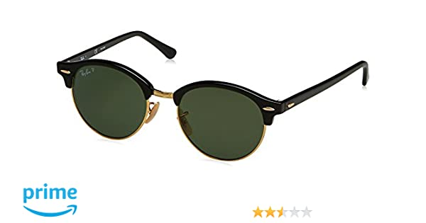 9d978592bd Amazon.com  Ray-Ban Clubround Polarized Round Sunglasses