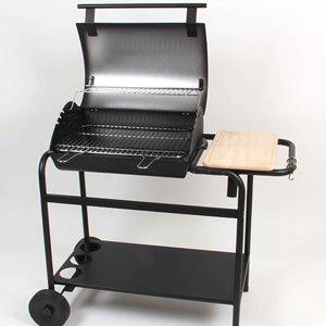 3c745935ecea7 Barbecue au charbon en fonte Tambora avec couvercle et chariot ...