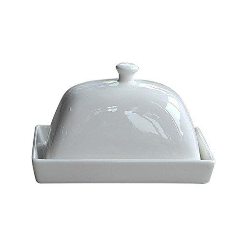 funnytoday365セラミックバターディッシュトレイホルダーwith Lidヴィンテージキッチン冷蔵庫ストレージクリーム   B07BGZ48DT