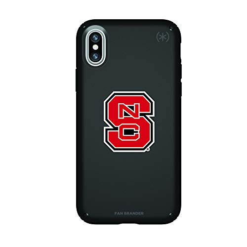 Fan Brander NCAA Phone case, Compatible with Apple iPhone XR and with Speck Presidio Series(NC State Wolfpack)