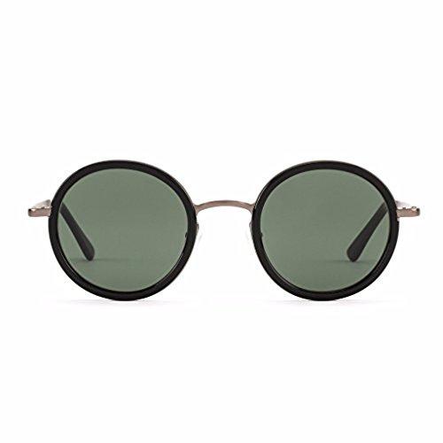 OTIS Eyewear Winston - Black Round Polarized Unisex ()