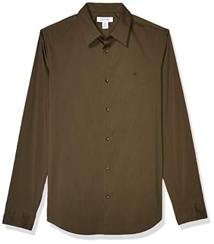 Calvin Klein Men's Stretch Cotton Button Up Shirt