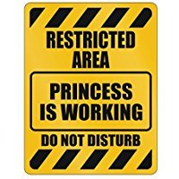 Little Princess Wall Plaque - Restricted Area Princess is working Do not disturb - Female Names - Parking Sign [ Decorative Novelty Sign Wall Plaque ]
