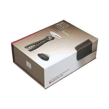 3,7 x 7,7 x 17,5 cm Kunststoff Peugeot 200244 Salma Korkenzieher mit Manschettenschneider schwarz
