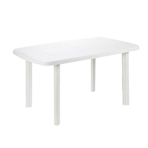 PROGARDEN - Mesa plastico, 87 x 138 x 6 cm, color bla