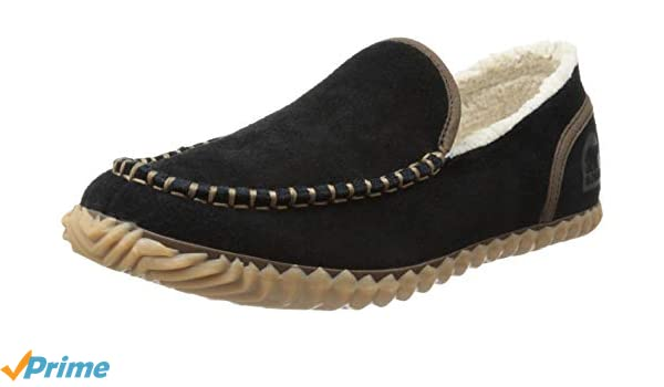 SOREL Mens Dude Moccasins, Black, 8 M US