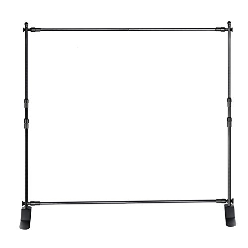 Neewer Photo Studio Telescopic Tube Background Support Pole and Stand with Heavy Duty Base for Photography Backdrop and Trade Show Display, 8 x 8 feet Adjustable Frame (W x H), Aluminum Alloy by Neewer