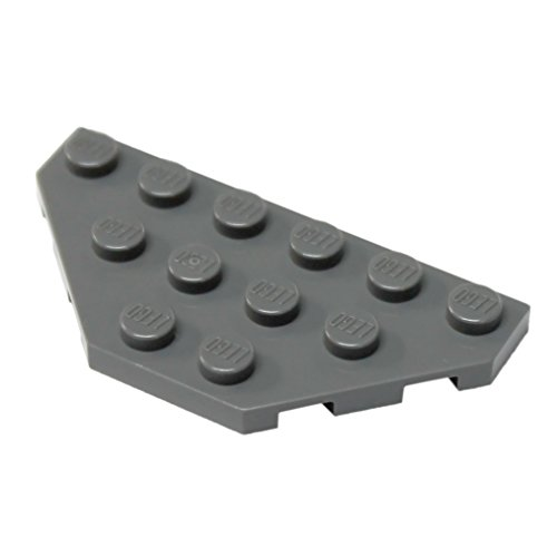 LEGO Parts and Pieces: Dark Gray (Dark Stone Grey) 3x6 Wedge Plate x100