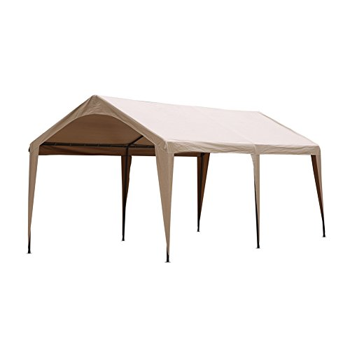 Abba Patio 10 x 20-Feet Outdoor Canopy with 6 Steel Legs, Brown by Abba Patio