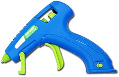 Xing zhe ホットメルト接着ガン、子供の大人手作り、ブルーに適したスティックのりとブラケット付き15WミニUSB充電式ホットグルーガンキット、 贈り物 (Color : K)