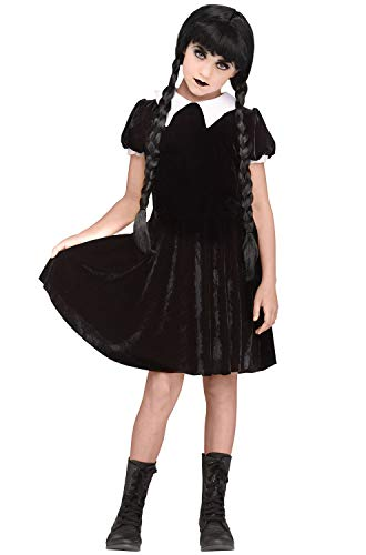 Fun World Gothic Girl Child Costume, Medium, Multicolor -