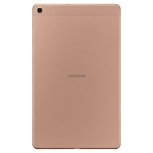"Samsung Galaxy Tab A 10.1"" (2019, WiFi + Cellular) Full HD Corner-to-Corner Display, 32GB 4G LTE Tablet & Phone (Makes Calls) GSM Unlocked SM-T515, International Model (32 GB, Gold)"