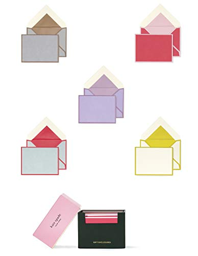(Kate Spade New York Gift Enclosures Card Set of 25 with Blank Interior and Lined Envelopes, Colorblock)