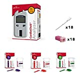 CardioCheck Blood Testing Device kit with 6ct HDL 6ct Triglyceride 6ct Total Cholesterol 18ct Pipettes and 18ct Lancets