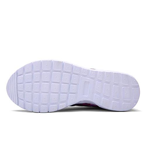 Dannto Mens Chaussures De Course De Course Chaussures De Sport Sport Léger Chaussures De Marche Violet