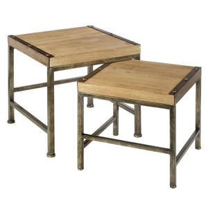 Mini Wood Nesting Tables, set of 2 by Retail Resource